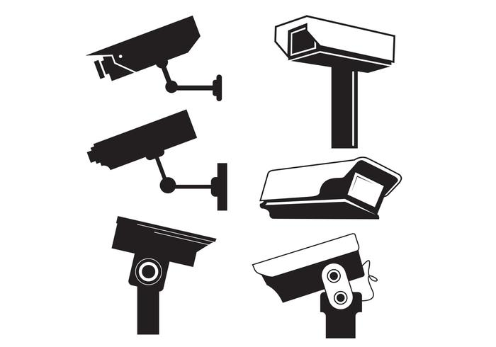 CCTV Camera Vector Graphics