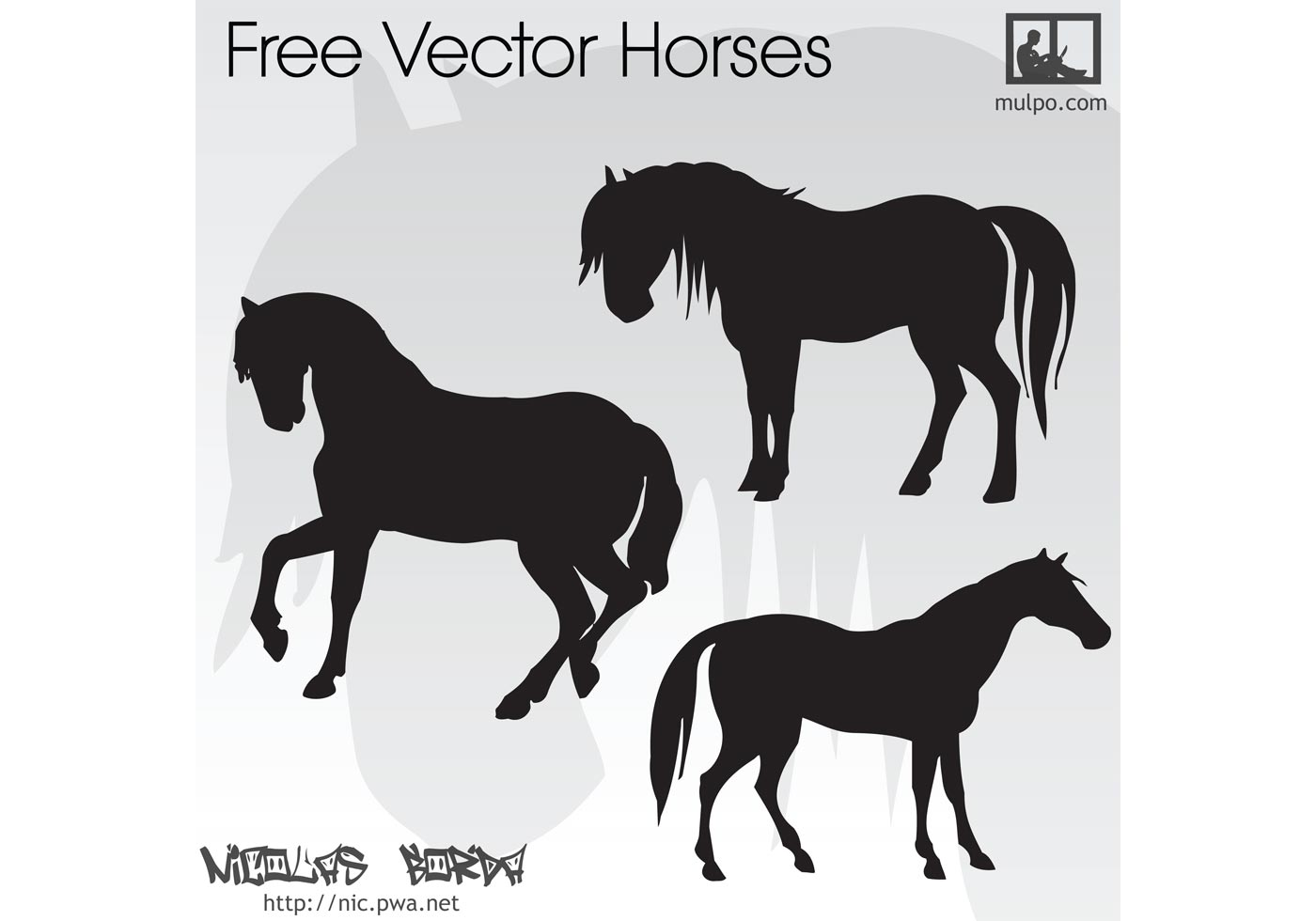Free-vector-horses