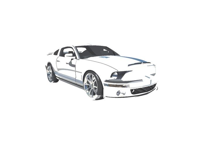 Mustang vetorial