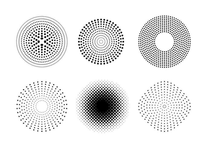 Vektor Punkte und Halbton Muster