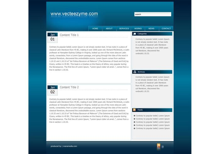Web2 Website Template