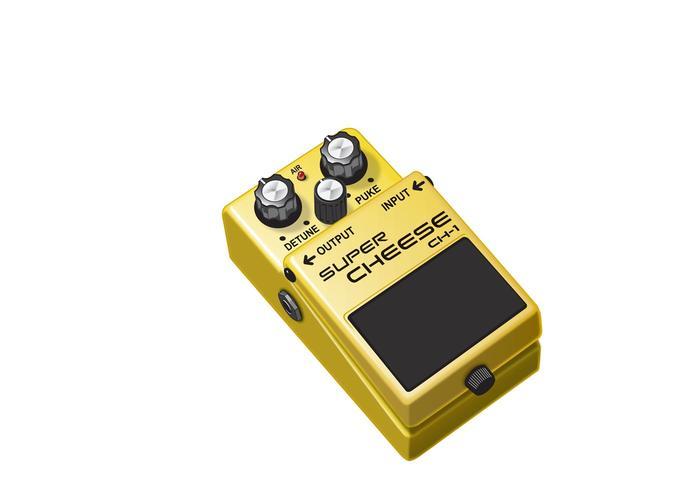 O pedal de guitarra Cheese-y