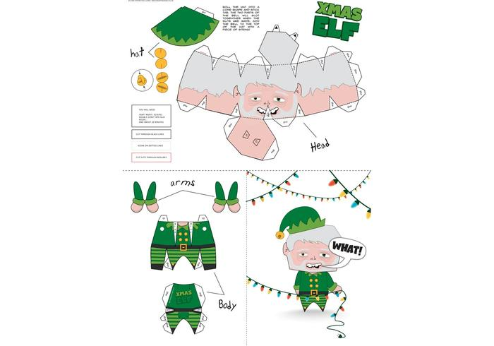 Xmas Elf Paper Craft