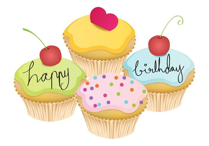 May Cupcake Vectors