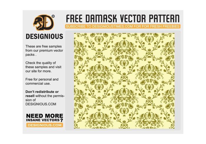 Damasco patrón transparente