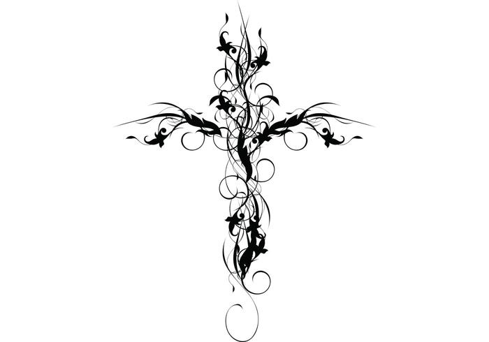 Floral Cross Download Free Vector Art Stock Graphics
