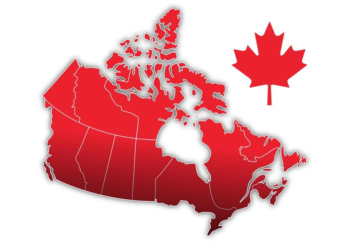 Kanada Day Vector Map