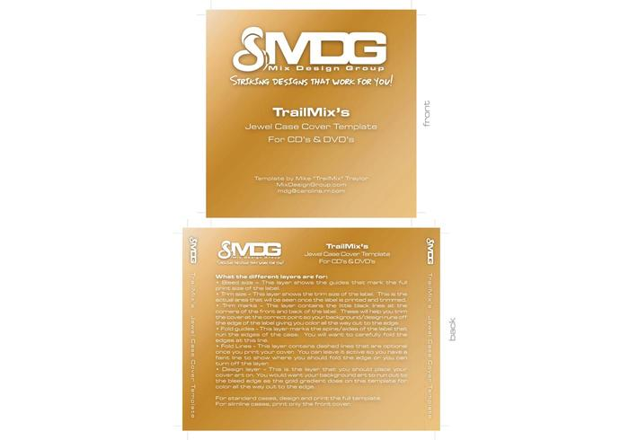 Cd/Dvd Label Template By Mdg - Download Free Vector Art, Stock