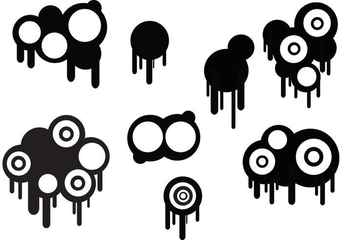 Cirklar och droppar Set