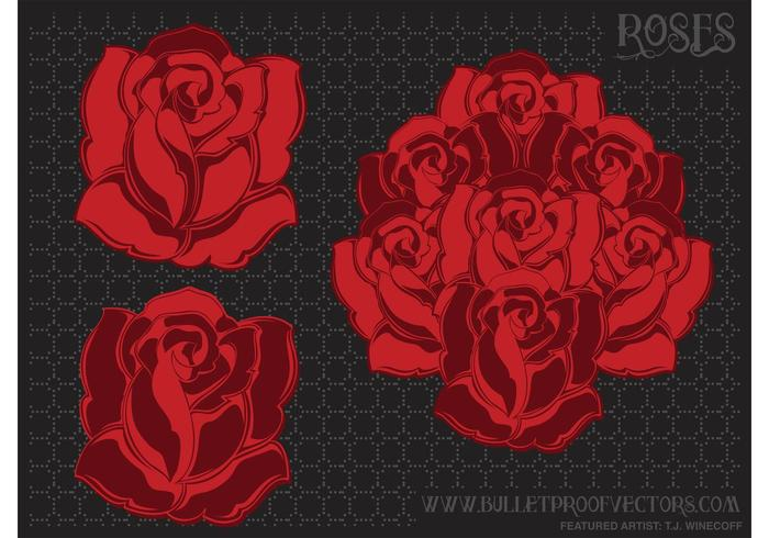 Flower Vector Roses Pack