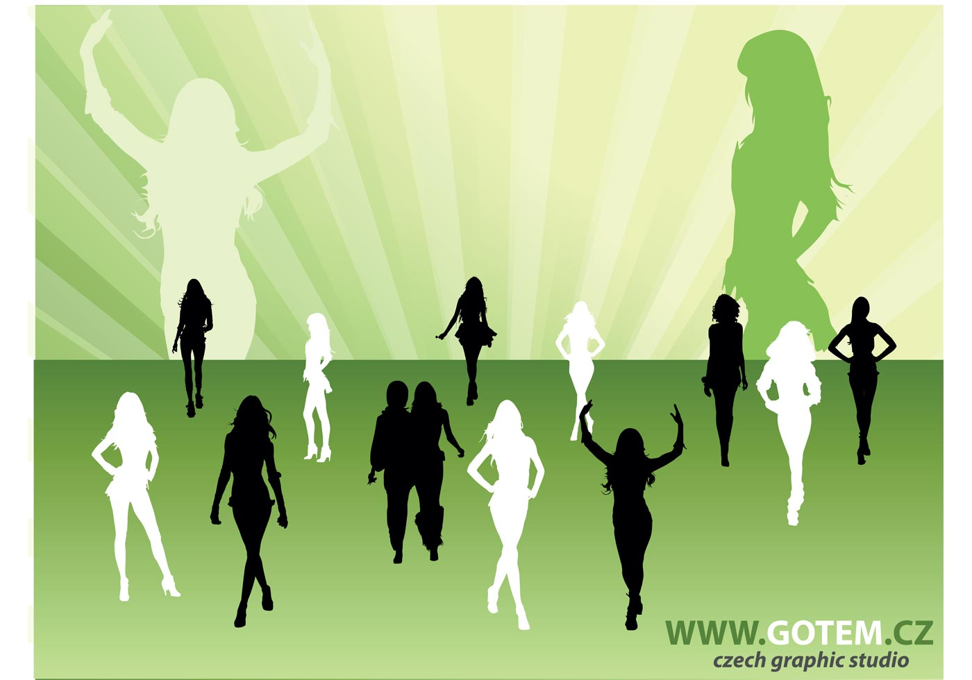 Fashion Silhouettes - Download Free Vector Art, Stock ...