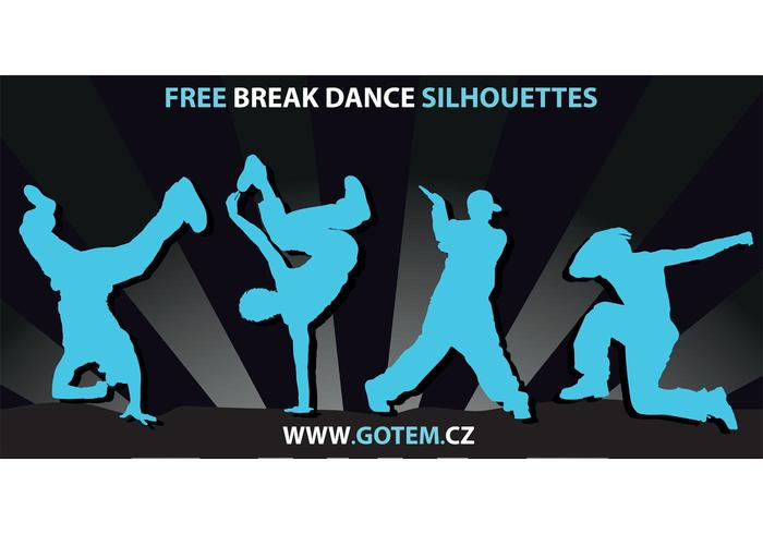 Breakdance Silhouetten