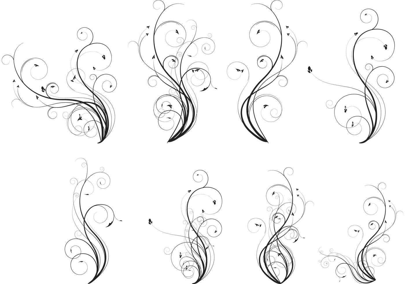 flourish vector sample pack - photo #22