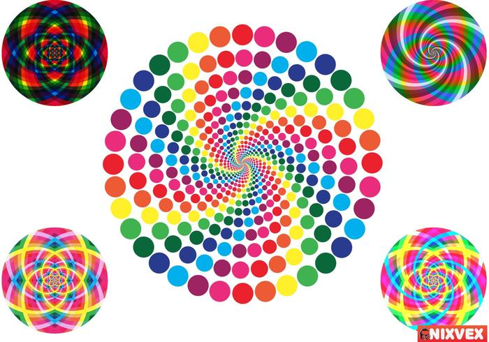 VixVex Gratis Vector av Op Art Circles