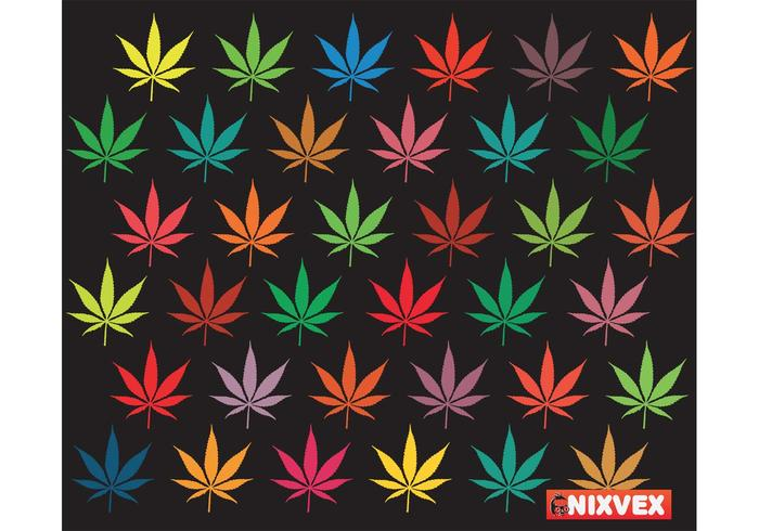 NixVex freien Vektor von bunten Blättern