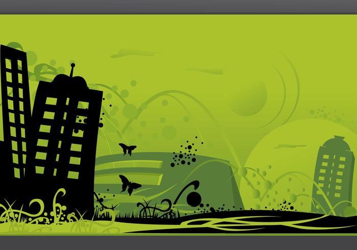 Grüne Stadt Art
