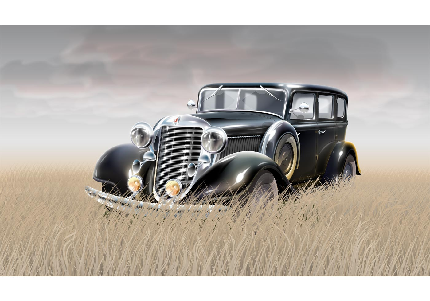 Free Vector Old Styled Car Download Free Vector Art