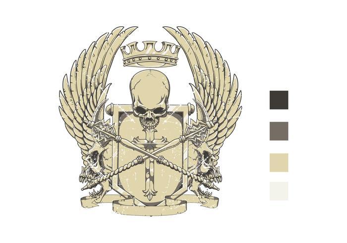 Crest t-shirt ontwerp