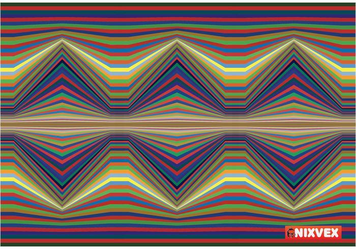 """Textura del arte op de las """"ondas sísmicas libres"""" de NixVex"""