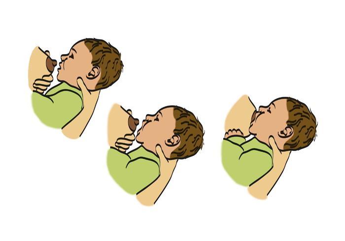 Illustration av Amning Baby
