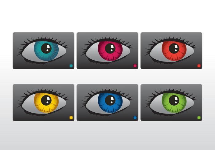 Coloridos ojos vectoriales