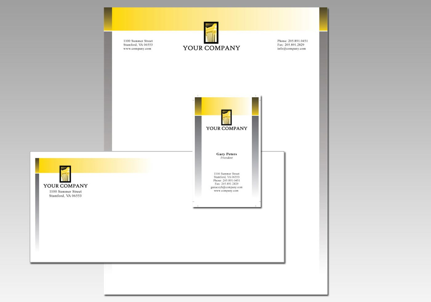Stationery Graphic Design Vectors