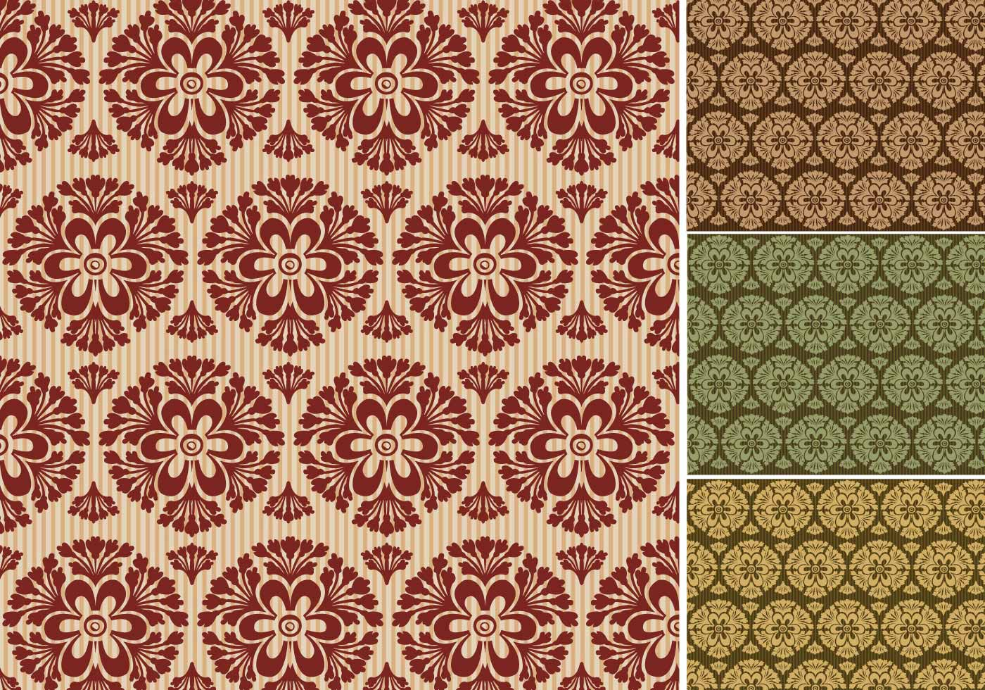 Wallpaper Vector Pack of Seamless Retro Wallpapers