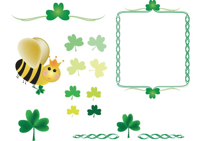 Shamrocks and Queen Bee