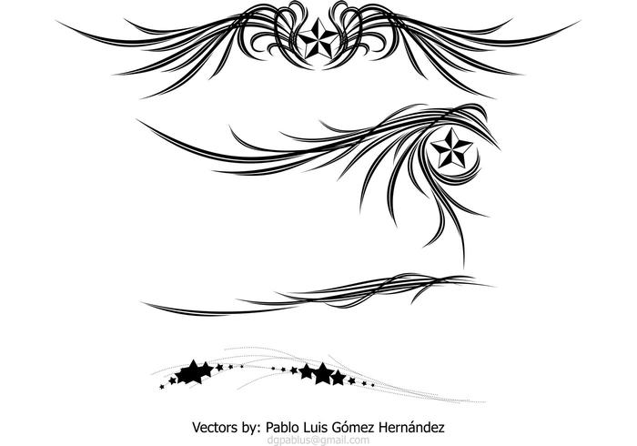 Ornamento de las alas y de las estrellas