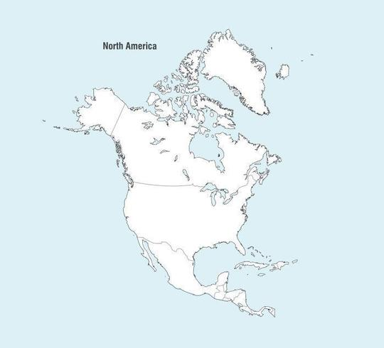 North America Map Free Vector Art - (4744 Free Downloads)
