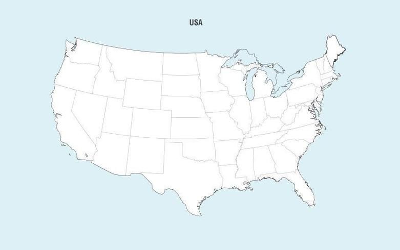 Vecteur de carte des États-Unis