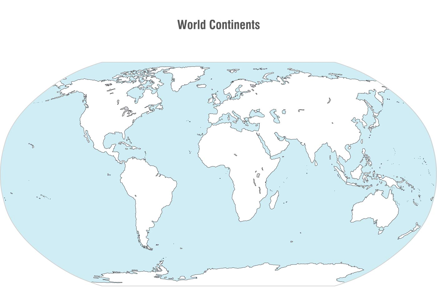 World Continents Map Vector Download Free Vector Art