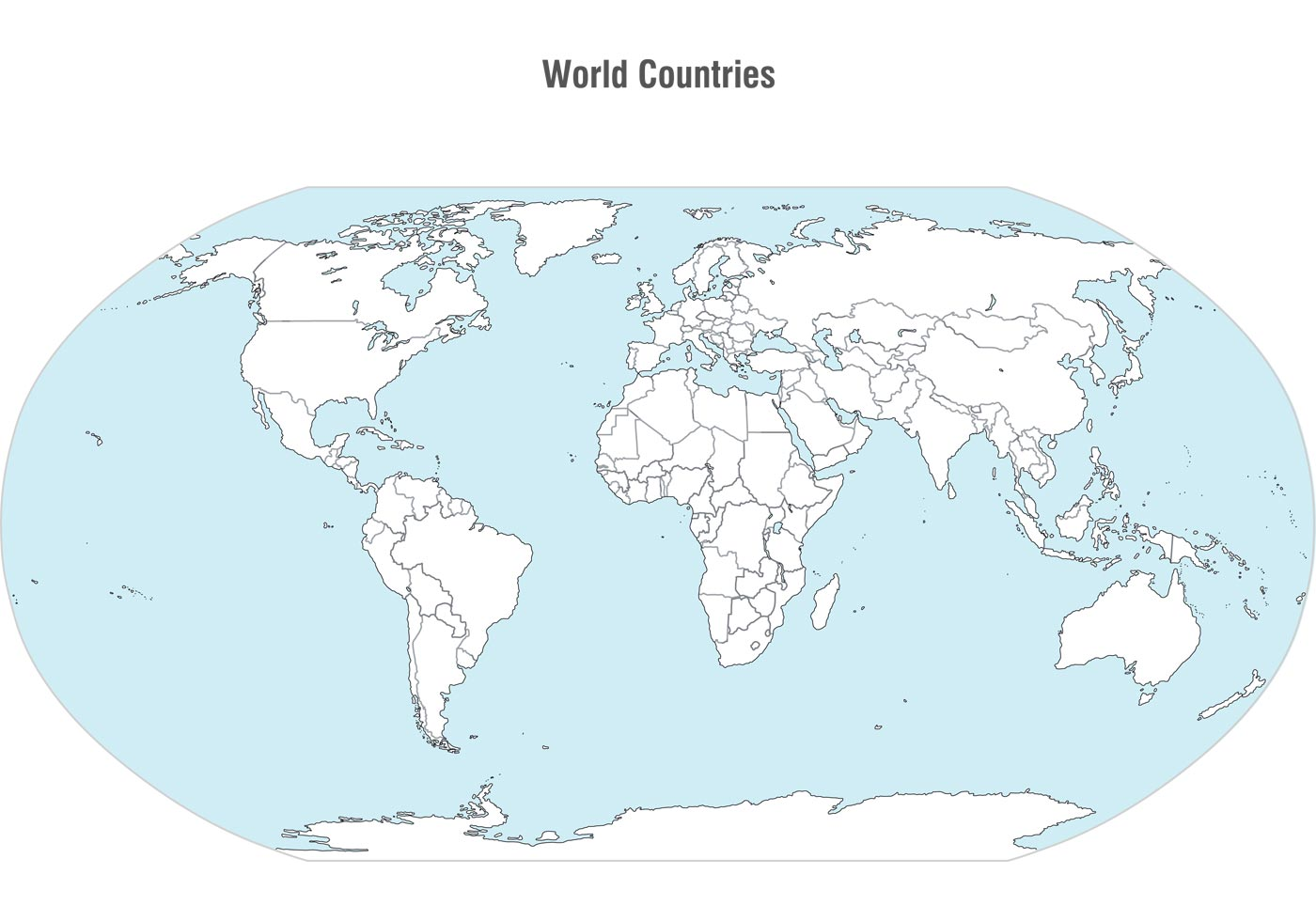 World Countries Map Vector Download Free Vector Art Stock - Map of countries of the world