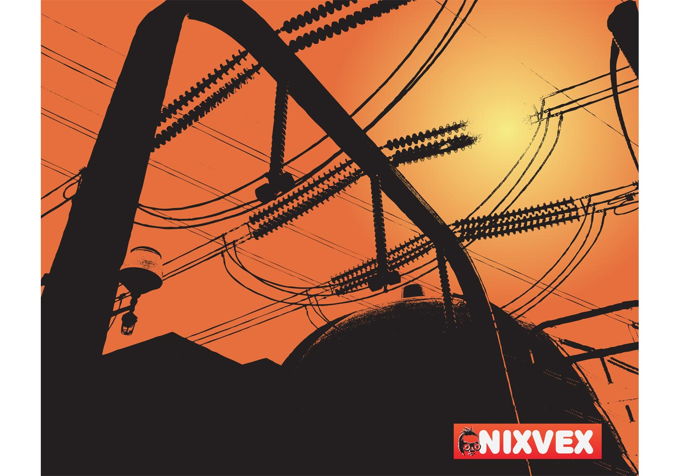 "Скачать Eco Technology Flat Icons: NixVex ""Atomic Power Station"" Free Vector Image"