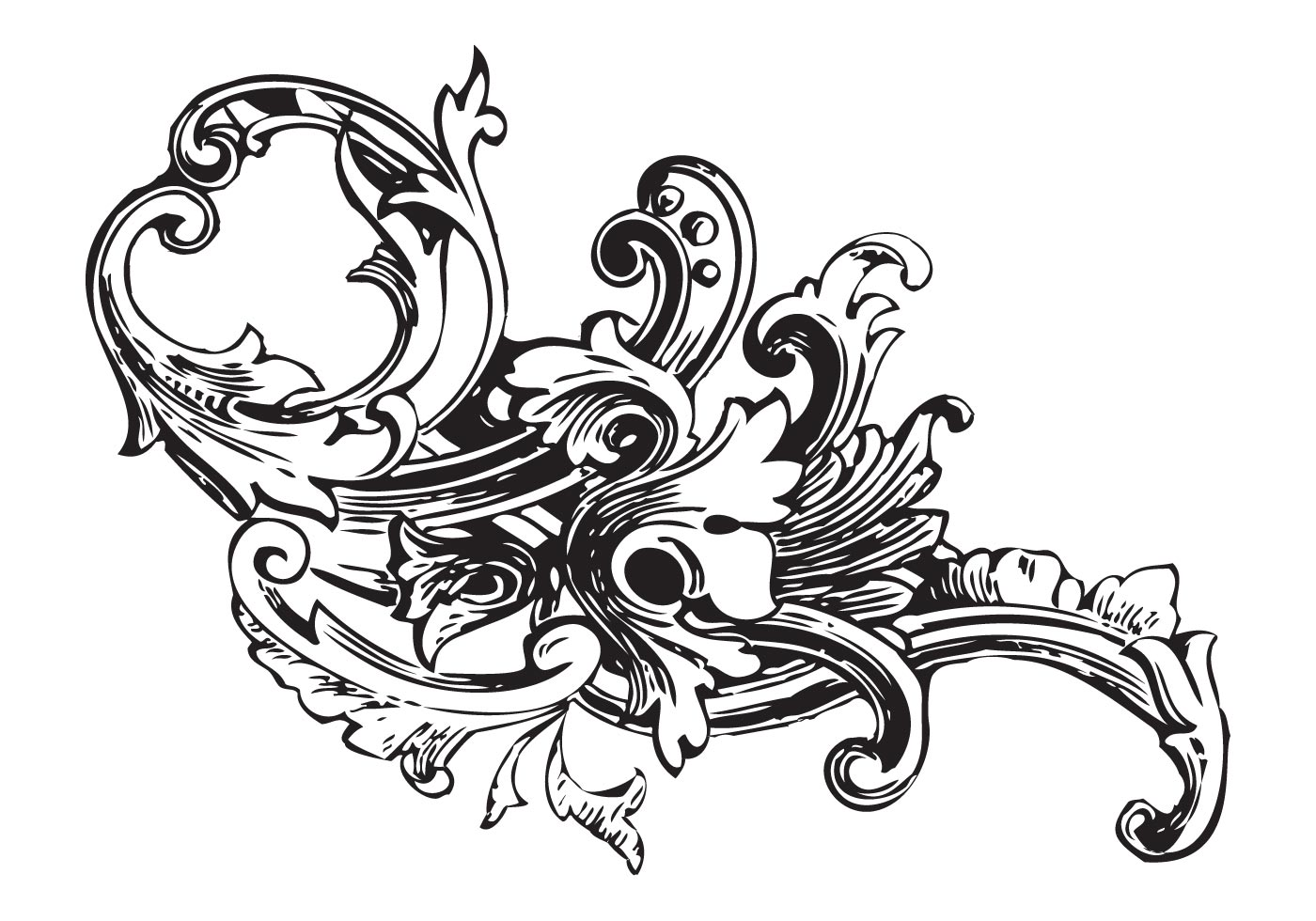 Ornament Vector Baroque Pack Барокко Орнамент