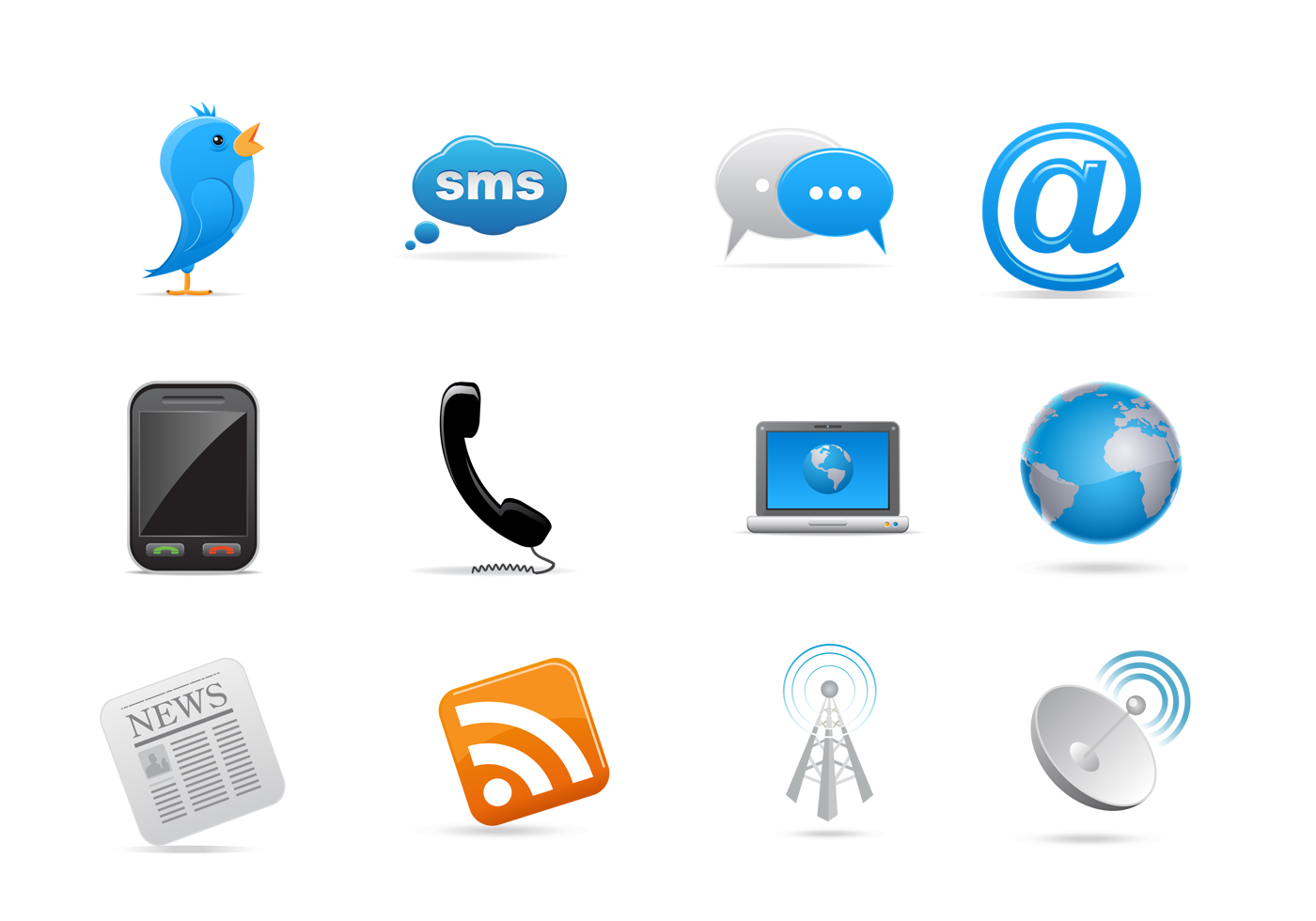 Communication Icon Vector Pack