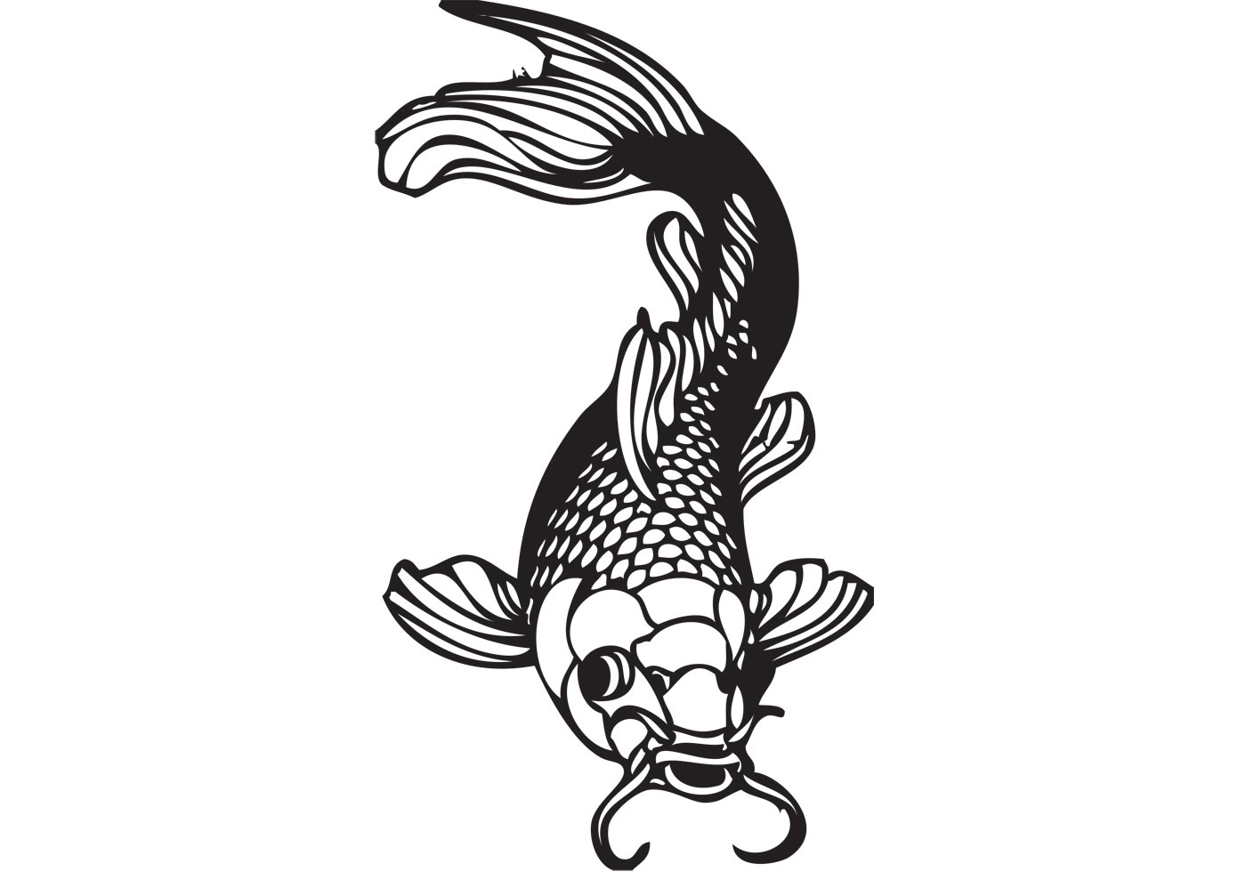 Coi download free vector art stock graphics images for Koi fish vector