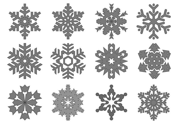 Sneeuwvlok Vector Pack