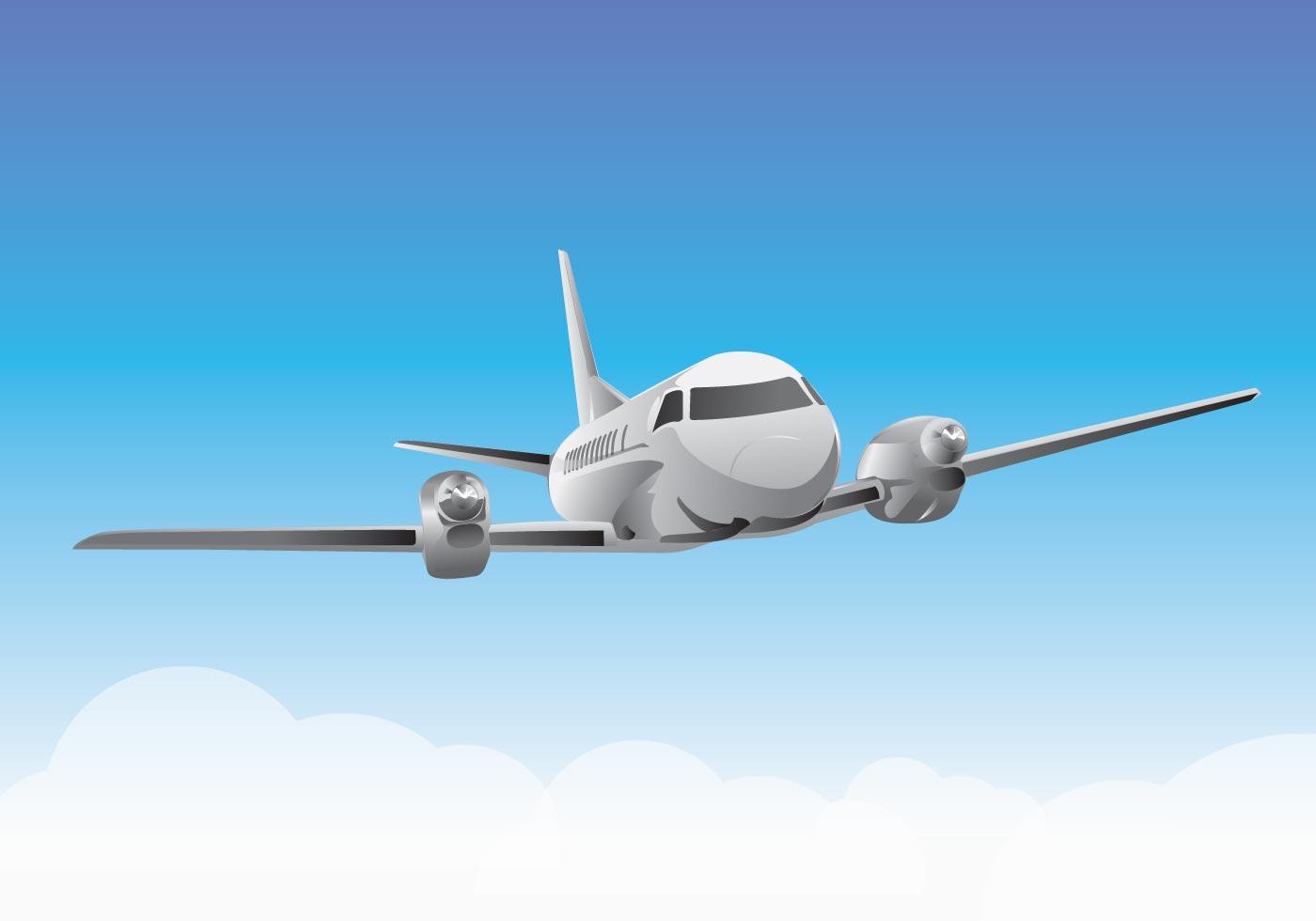 Airplane Vector - Download Free Vector Art, Stock Graphics ...