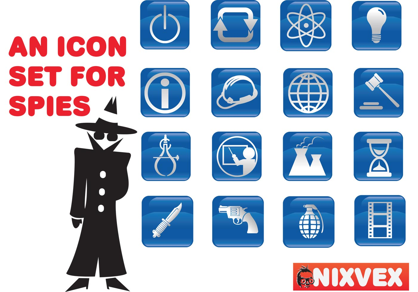 NixVex Icons for Spies Free Vectors