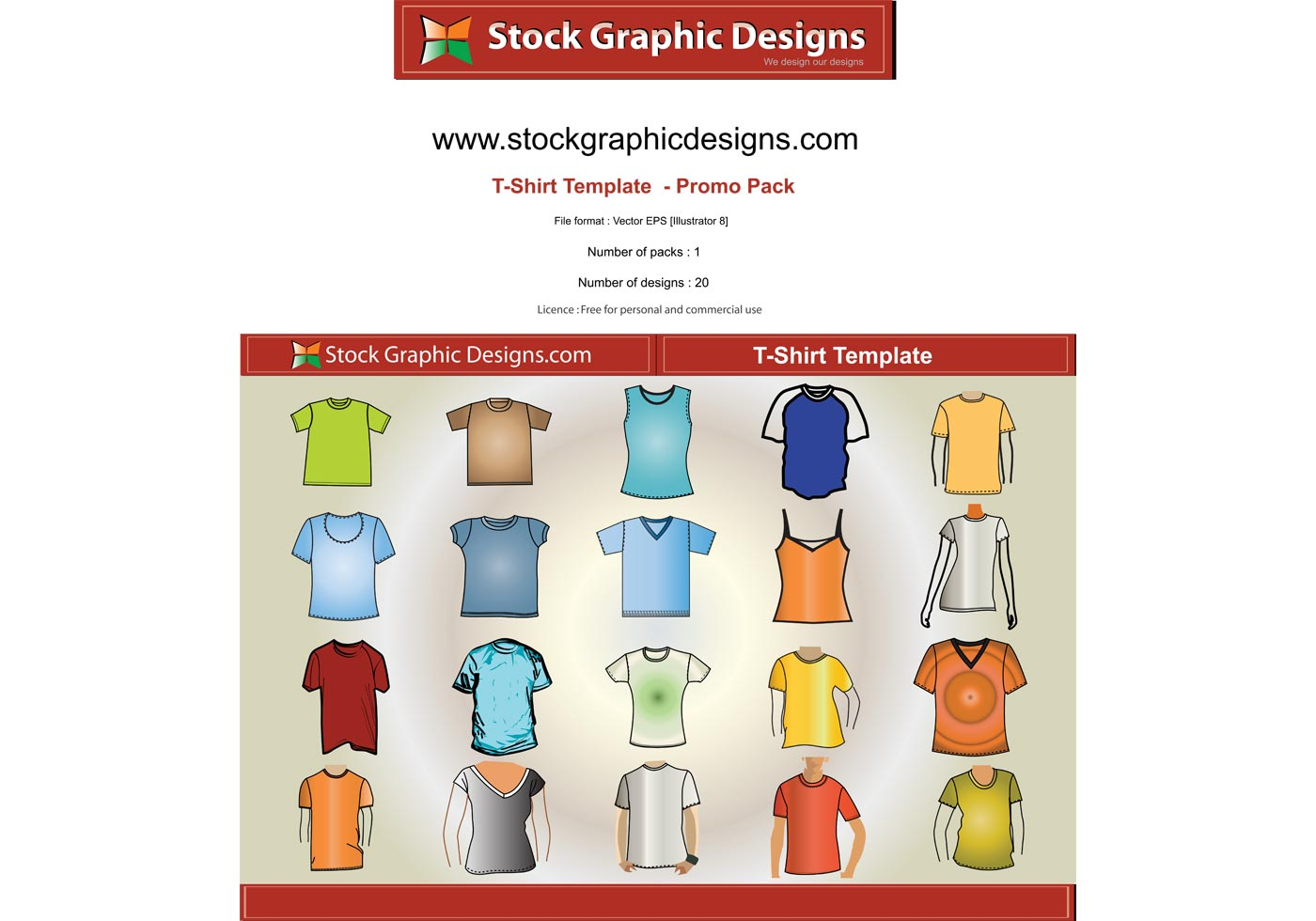 T–Shirt Template Free Vector Pack - Download Free Vector ...