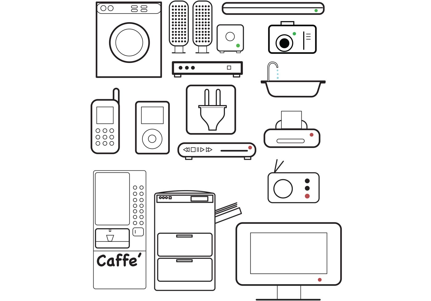 free vector appliance icons