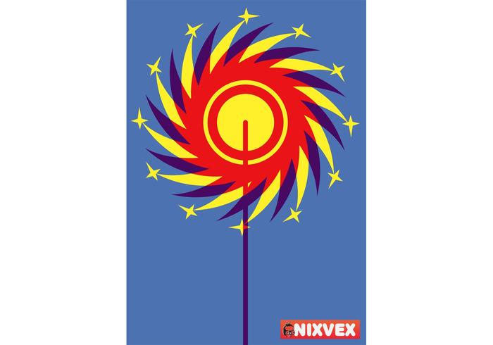 NixVex Catherine Wheel Free Vector