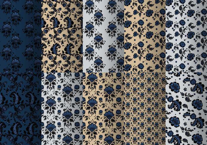 Blauw Barok Patroon Pakket