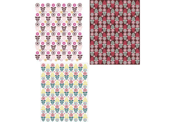 Papel de parede com papel de parede floral tri-pack