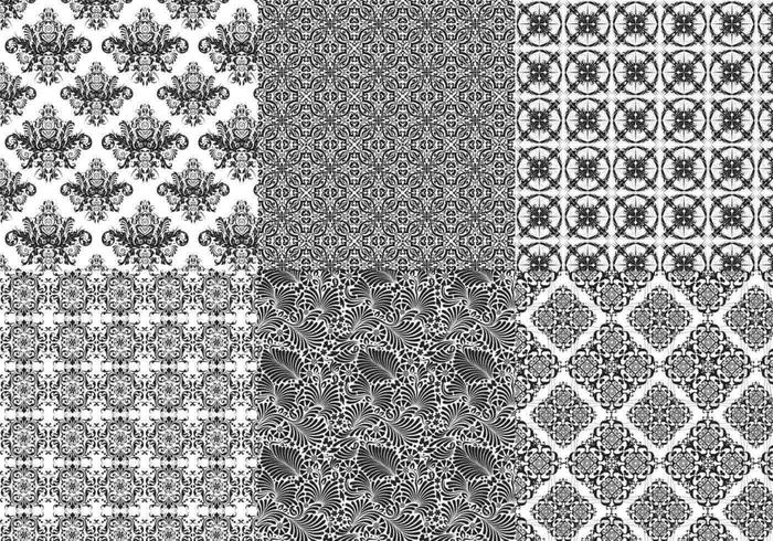 Seamless Baroque Illustrator Patterns  vector