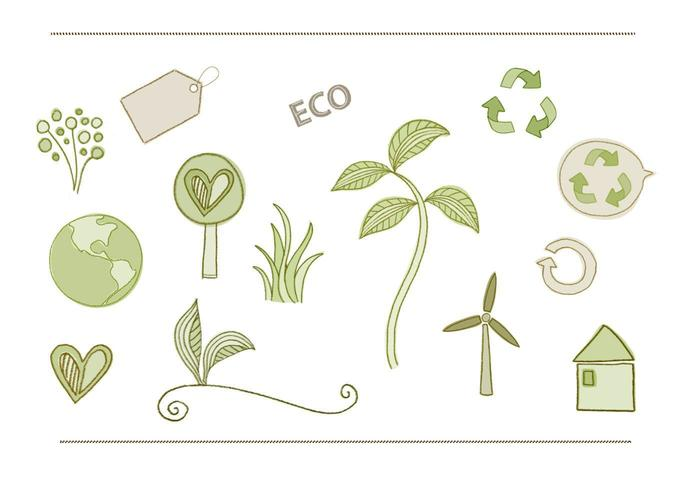 Pacote vetorial eco-ambiental