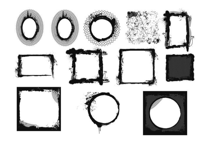 Cadres vectoriels en grunge vecteur