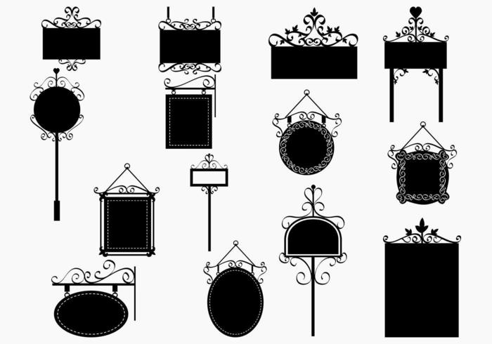 Ornate Sign Vector Pack