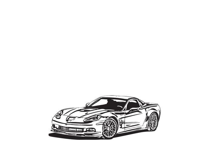 Corvette ZR1 Vector